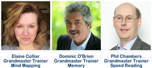 Tony Buzan Grandmaster Trainers Elaine Colliar Dominic O'Brien Phil Chambers